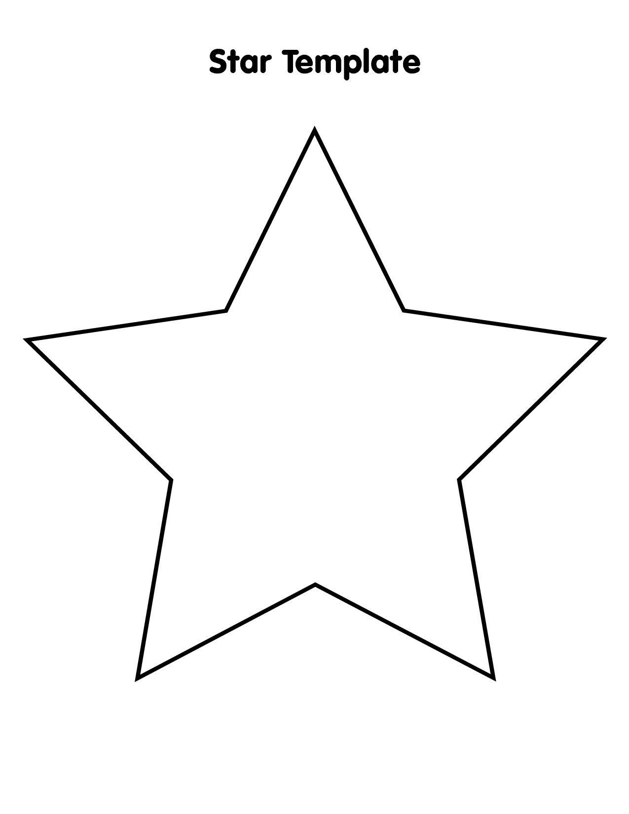 Free Printable Star Template 9 Best Of Big Star Template Printable Stars Star Template Star Template Printable Printable Star