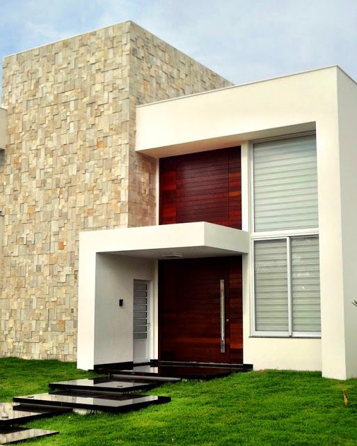 24 fachadas de casas modernas + tipos de revestimentos