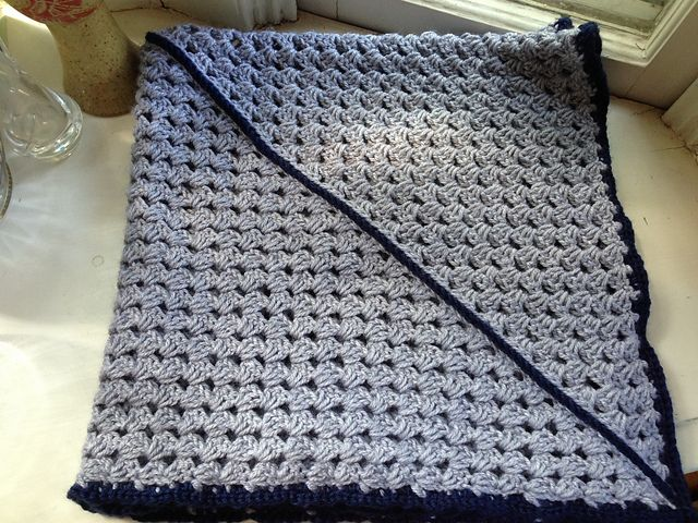 Ravelry: Diagonal Granny Square Baby Blanket pattern by Free Radical ...