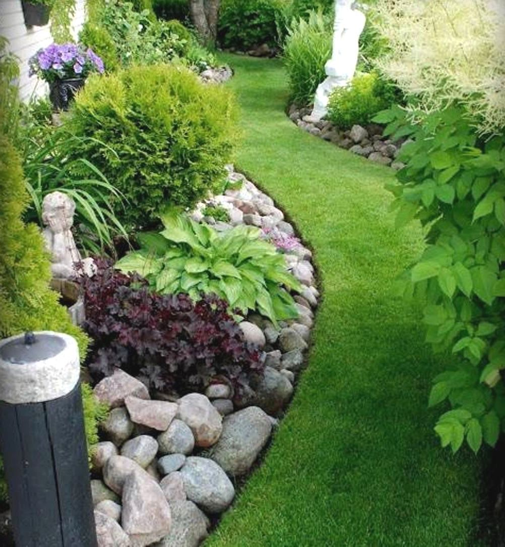 Corner Floral Garden Area: Small Garden Rockeries Rockery Garden Ideas Bsm