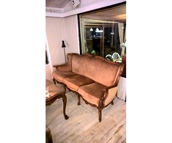 sofa velour 3 pers Sofa, velour, 3 pers., Brun barok / rokoko sofa Ønsker | Inderst  sofa velour 3 pers