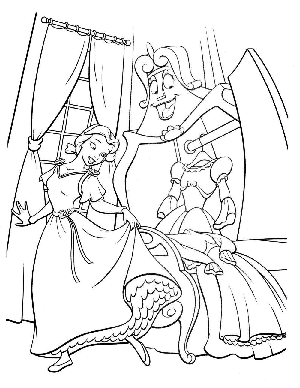 Beauty and the Beast Childrens' Coloring Pages