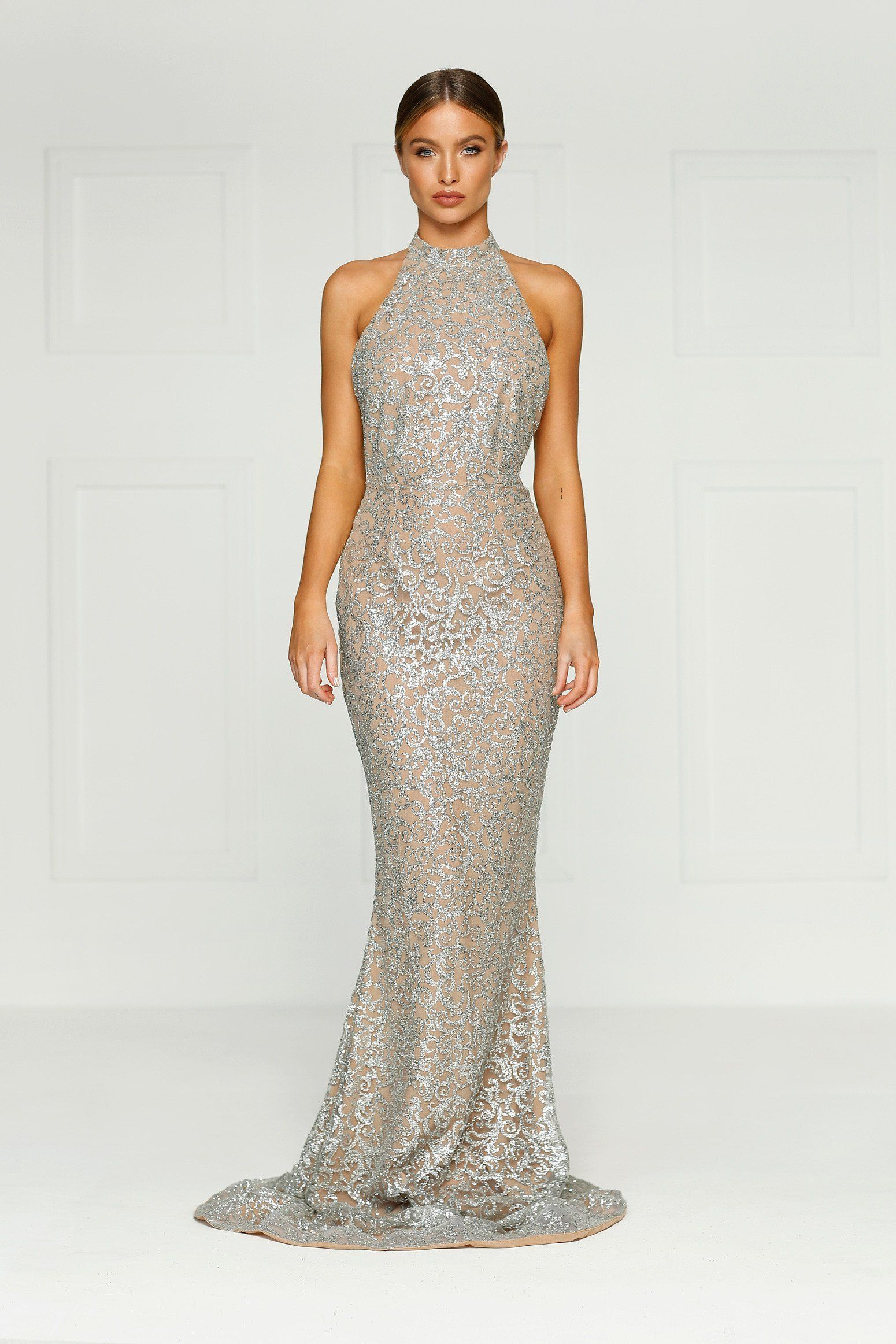 7dc4447e778 Leilani Glitter Gown - Silver in 2019 | Fashion | Bridesmaid dresses ...
