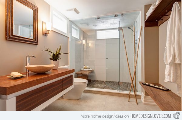 Get Nature S Feel In 15 Asian Themed Bathrooms Home Design Lover Zen Bathroom Design Bathroom Design Inspiration Zen Bathroom