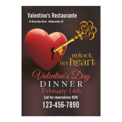 Unlock Her Heart Valentine S Sale Promotion Invitation Pinterest