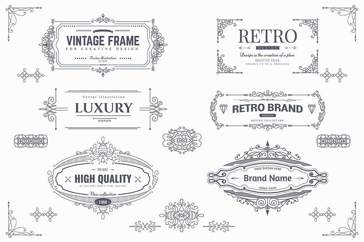 Collection Of Vintage Patterns Vol 1 Vintage Patterns Flat Design Icons Branding Design Inspiration