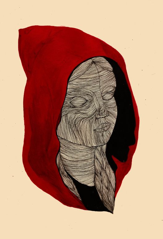"""Saatchi Online Artist: Charlotte Edey; Pen and Ink, 2012, Drawing """"red riding"""""""