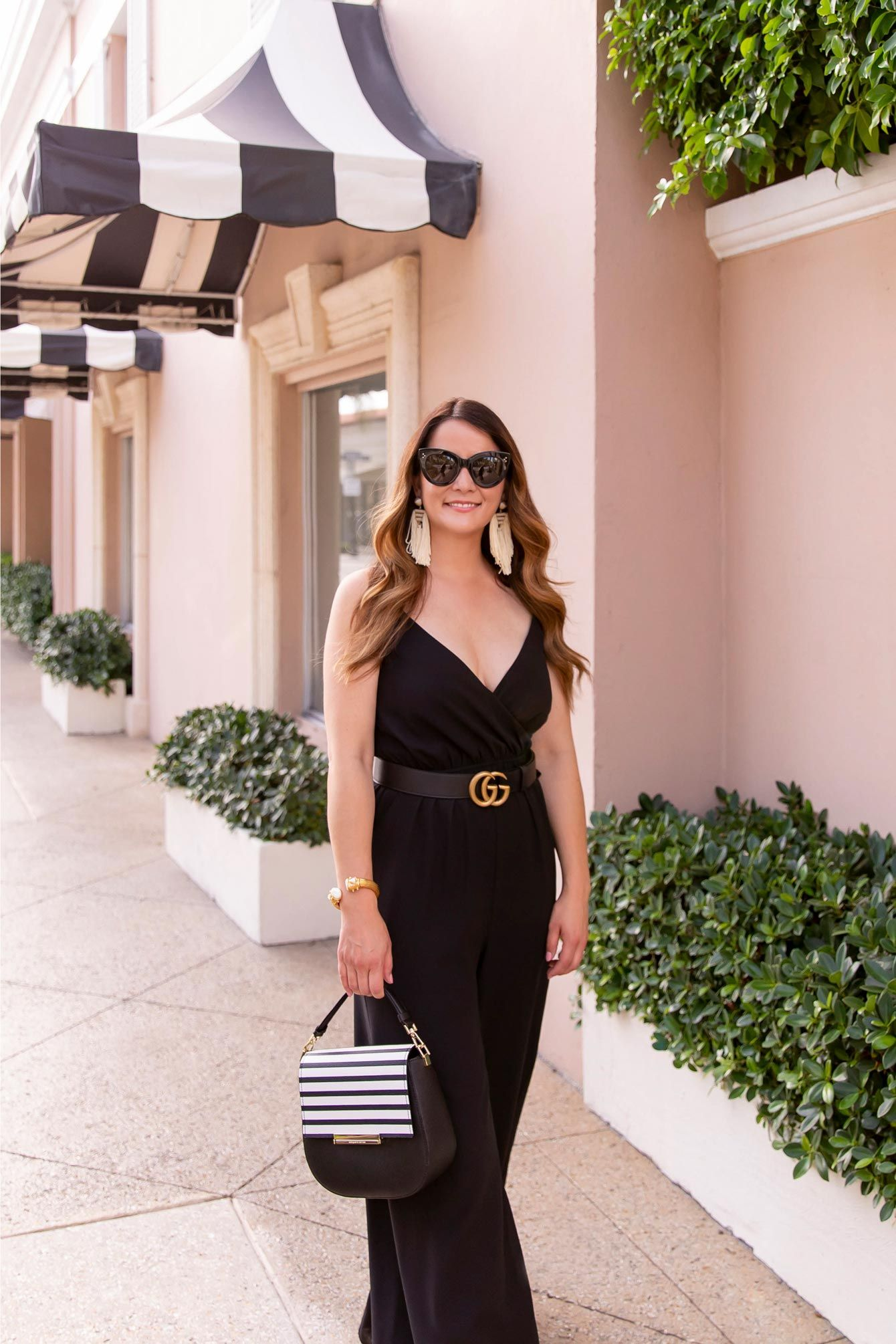3693bf5668 Ali   Jay Black Wrap Wide Leg Jumpsuit in Palm Beach