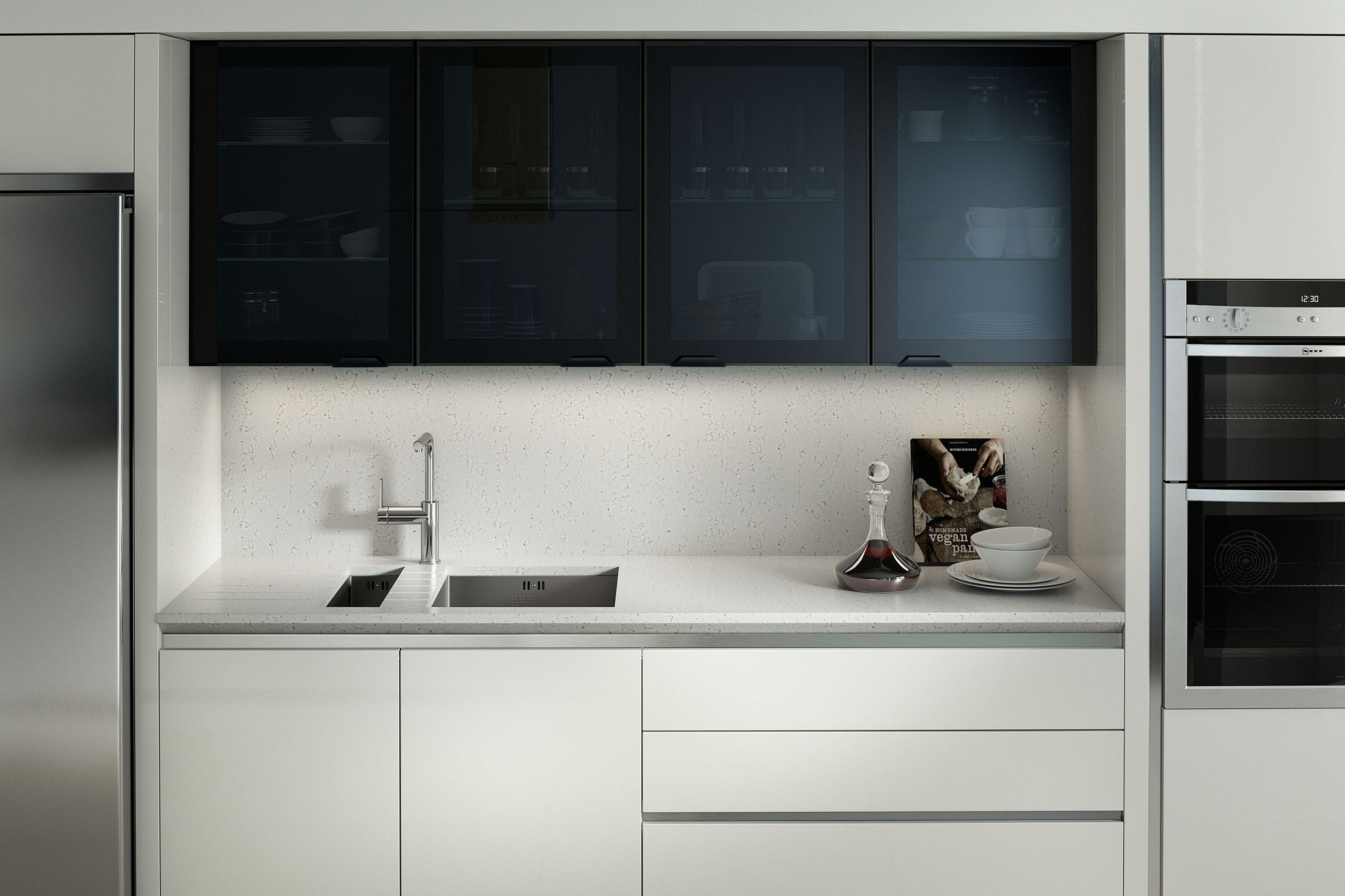 Porter matt white contemporary kitchen by sheraton interiors browse