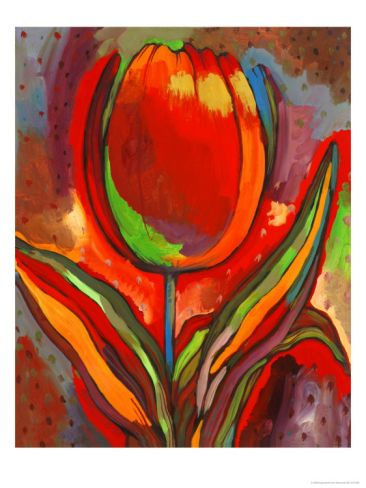 Kandinsky's Prize Tulip Giclee Print by John Newcomb at Art.com