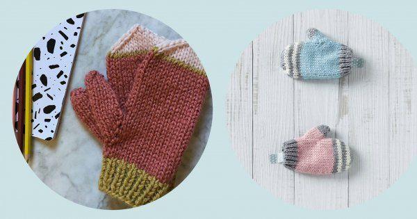12 idées pour tricoter des moufles et gants