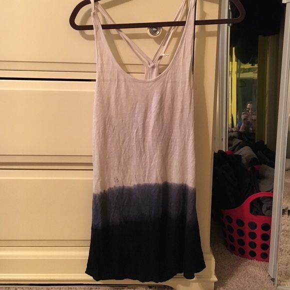Cover up dress Beach cover up dress! Cream to blue dip die! Never worn! Size small! Monoreno Dresses