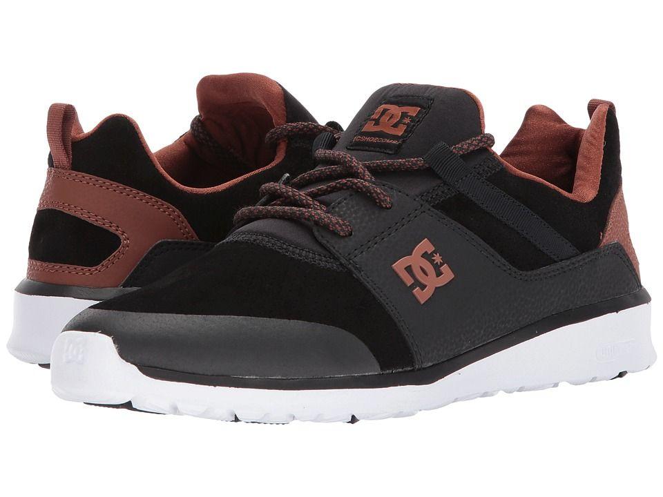 DC Heathrow Prestige Skate Shoes Black Brown White  38d03b989da58