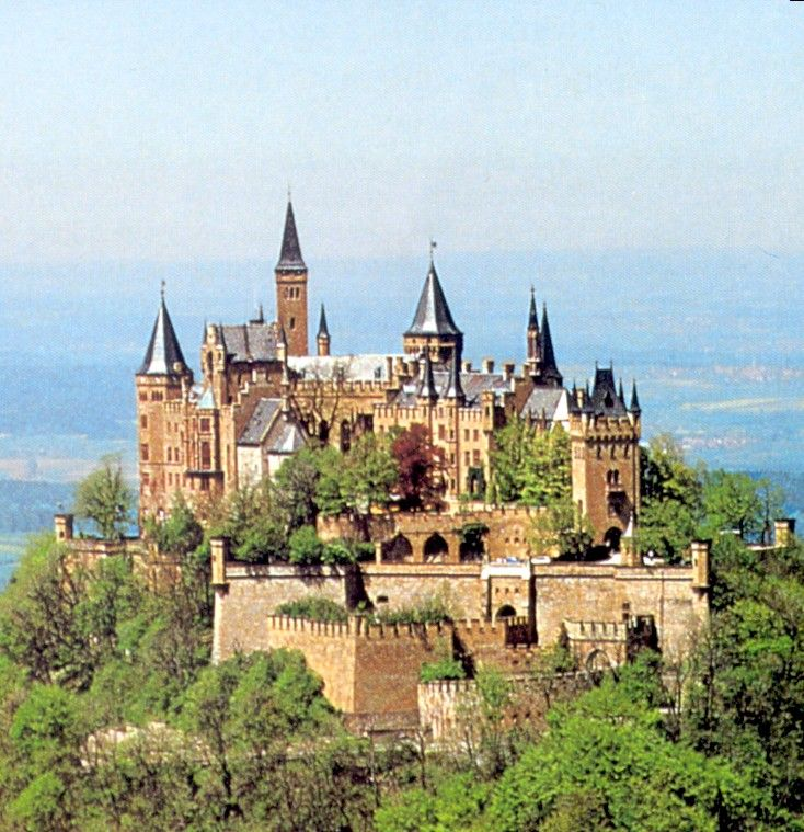 Hohenzollern Castle Burg Hohenzollern Is A Castle About 50 Kilometers 31 Miles South Of Stuttgart Ge Hohenzollern Castle Germany Castles Beautiful Castles