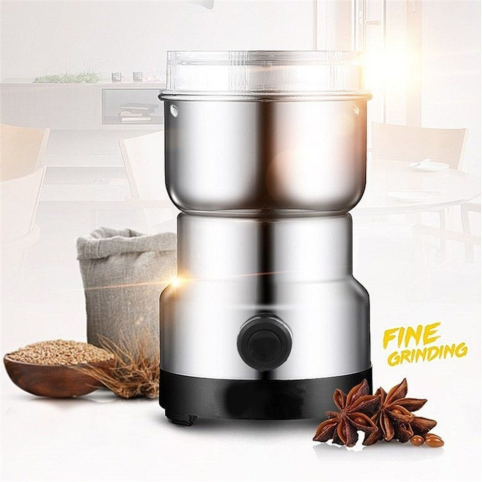 Multi Functional Mini Electric Pepper Nut Coffee Bean Grinder Machine Coffee Bean Grinder Steel House Milling Machine