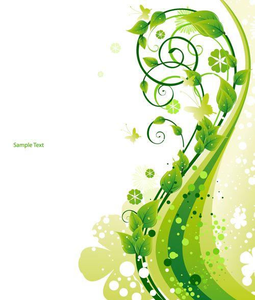 Elements Of Fresh Green Vector Backgrounds 04 Poster Background Design Vector Background Background Design Vector