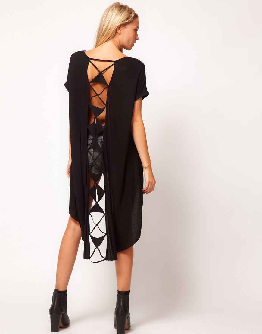 ASOS Tunic with Laddered Dip Back