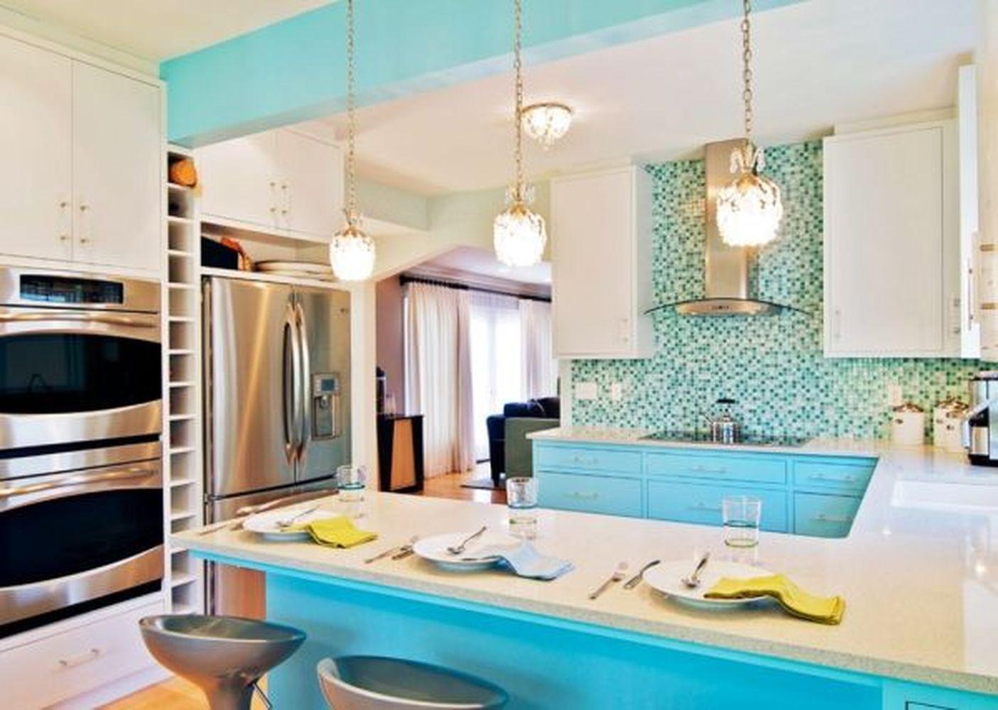outstanding 65 Modern White Kitchen Blue Island Color Scheme Decor ...