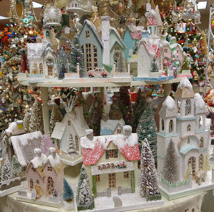 Vintage Christmas Merchandise Page Vintage Christmas Decorations Christmas Village Houses Vintage Christmas