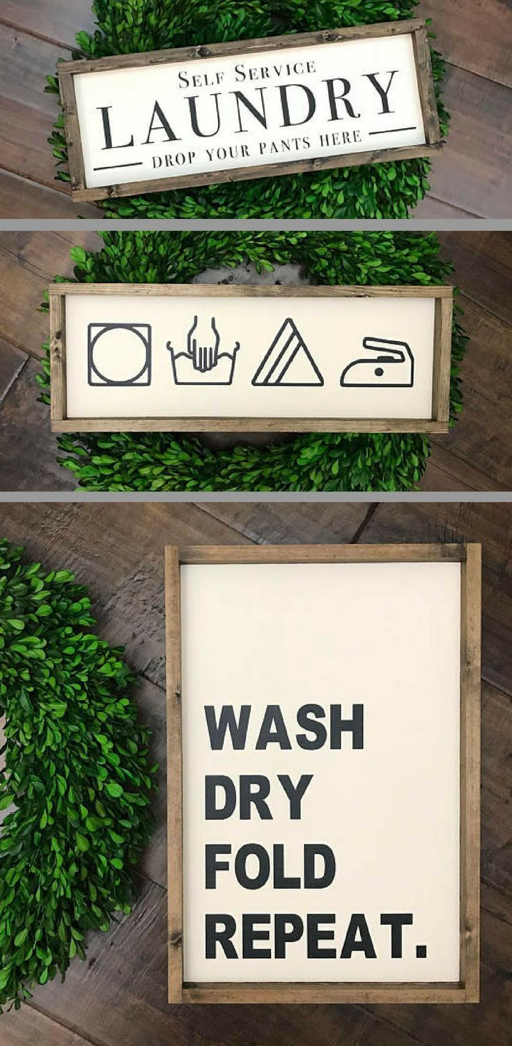 Love these laundry signs! Self Service Laundry Drop Your