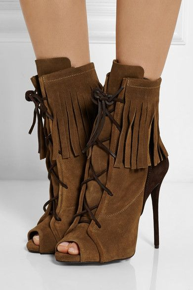 comfortable for sale Giuseppe Zanotti Suede Fringe Ankle Boots choice cheap price discount order cheap sale pre order good selling eZ1FM3sFB