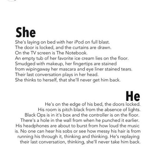 Quotes Sad Love Story: His And Her's Sad Story #heartbreak