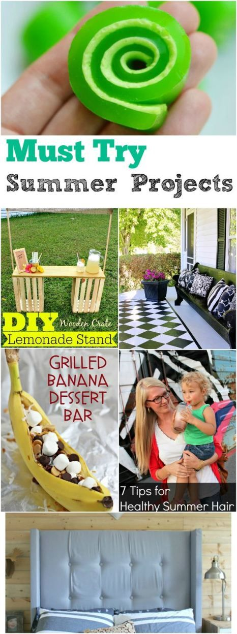Must Try Summer Projects collected by The Melrose Family perfect to beat the summer boredom and create the perfect diy or recipe for your home.