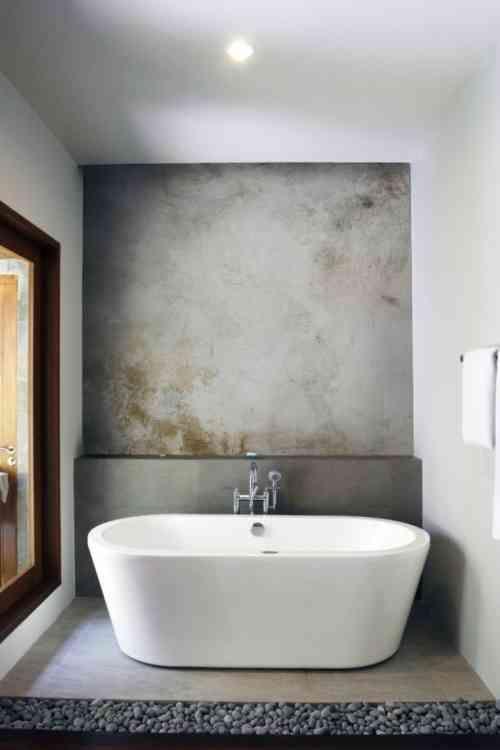 Salle de bain en béton ciré pour un aménagement tendance Bathroom