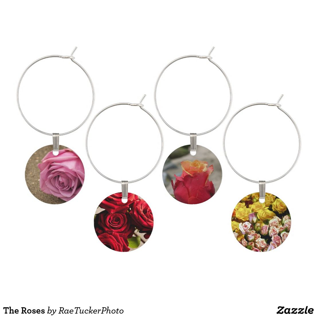 The Roses Wine Glass Charm