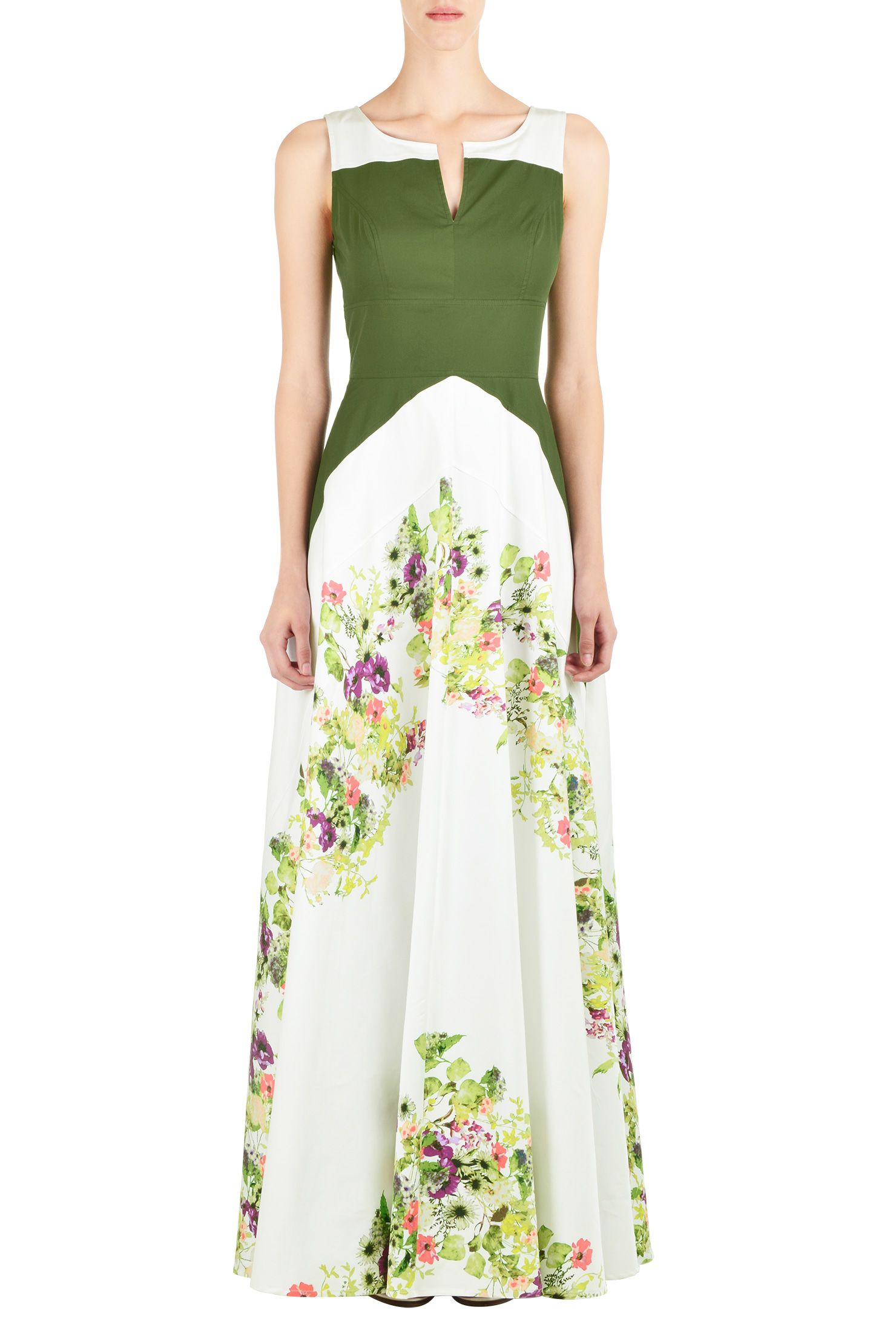 Floral chevron colorblock maxi dress custom dresses dress online