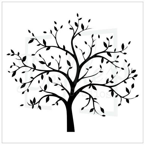 Bare Tree Stencil 2 Family Tree Stencil Tree Stencil Tree