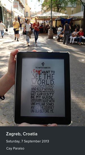 The manifesto in Zagreb, Croatia from Cay Paraiso.