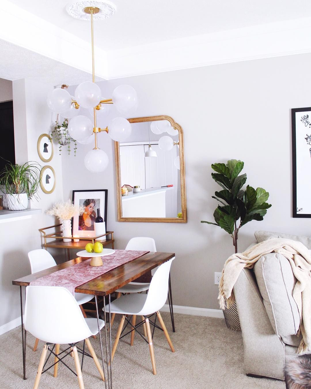 6 Brilliant Ways To Make Space For A Dining Table In The Teensiest Of Living Rooms In 2020 Dining Room Small Small Room Design Apartment Dining Room