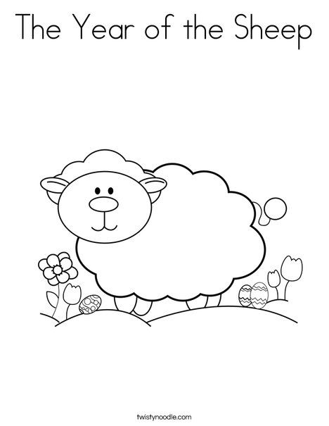 The Year Of The Sheep Coloring Page Twisty Noodle Sunday