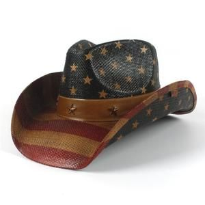 0632996afba6e Cowboy Hat 100% HandWork Summer Straw Women Men Western Sombrero Hombre Sun Cowboy  Caps With American Flag With Good Package