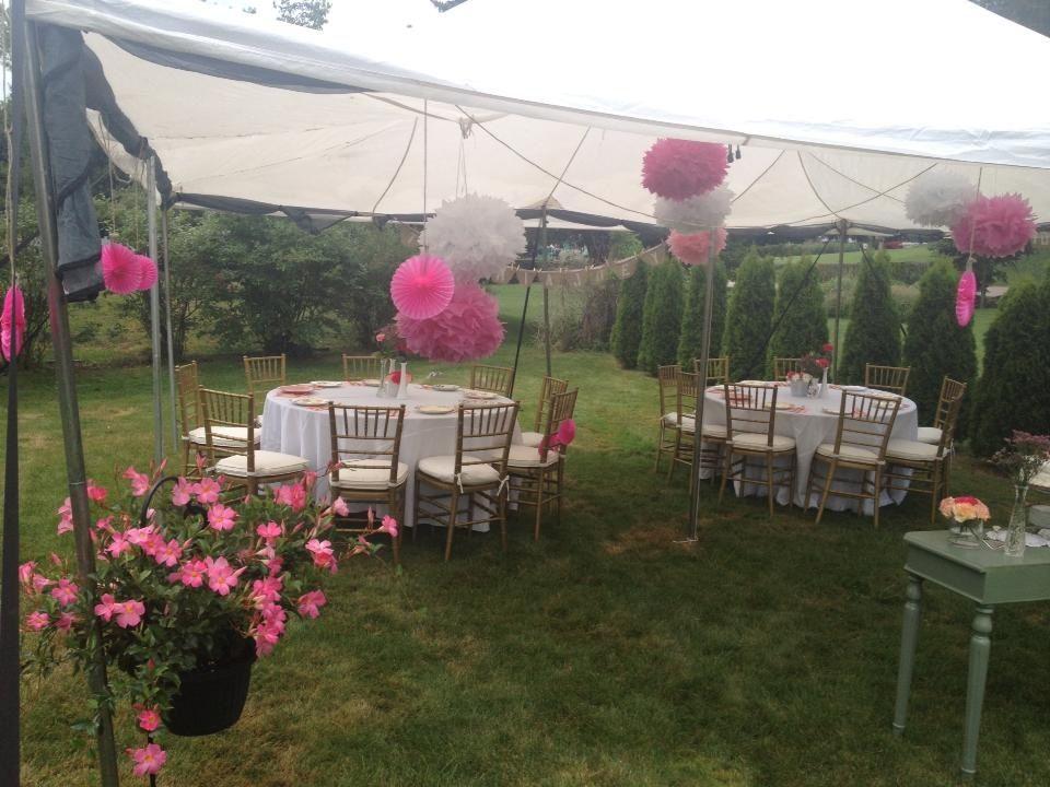 Outdoor Wedding Shower Ideas. Under A White Tent, White