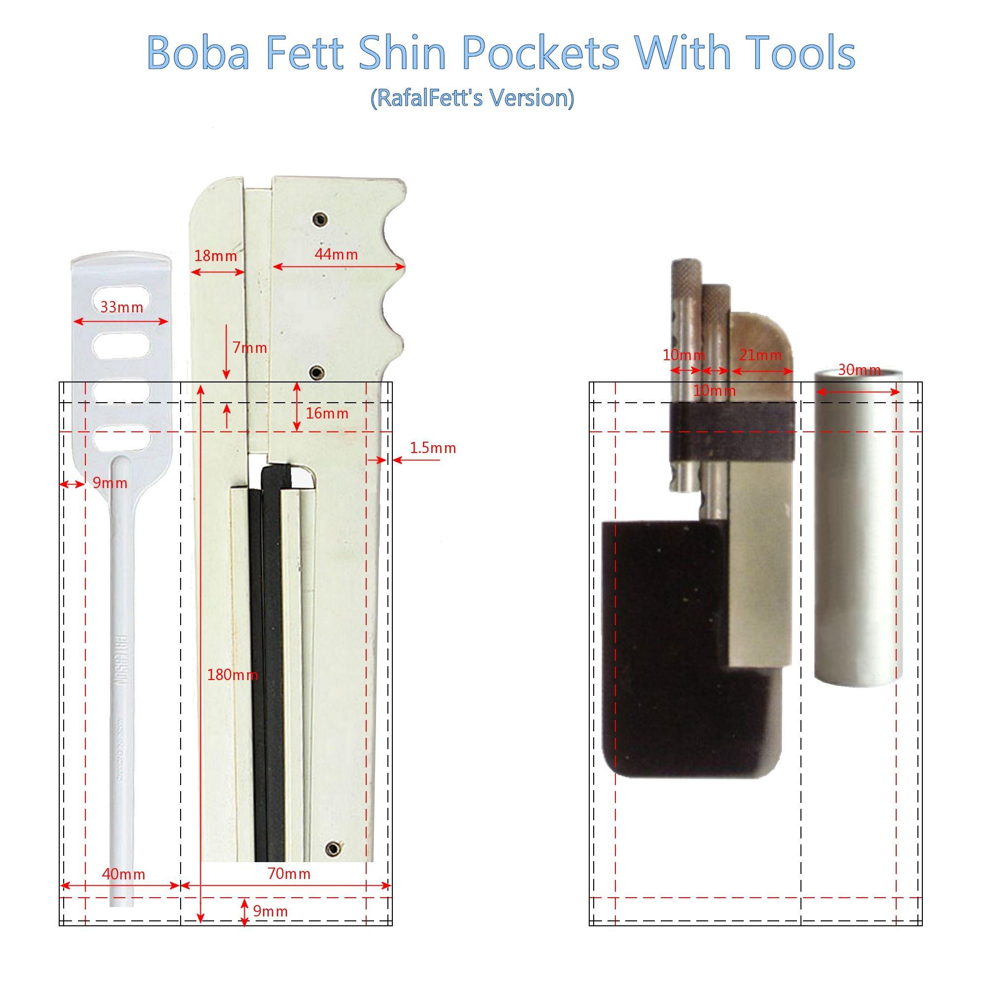 Boba Fett shin tools pocket positioning template. | SW | Pinterest