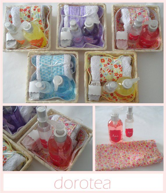 Canastas con jab n l quido perfumina toallita y jabones - Hacer jabones de glicerina decorativos ...