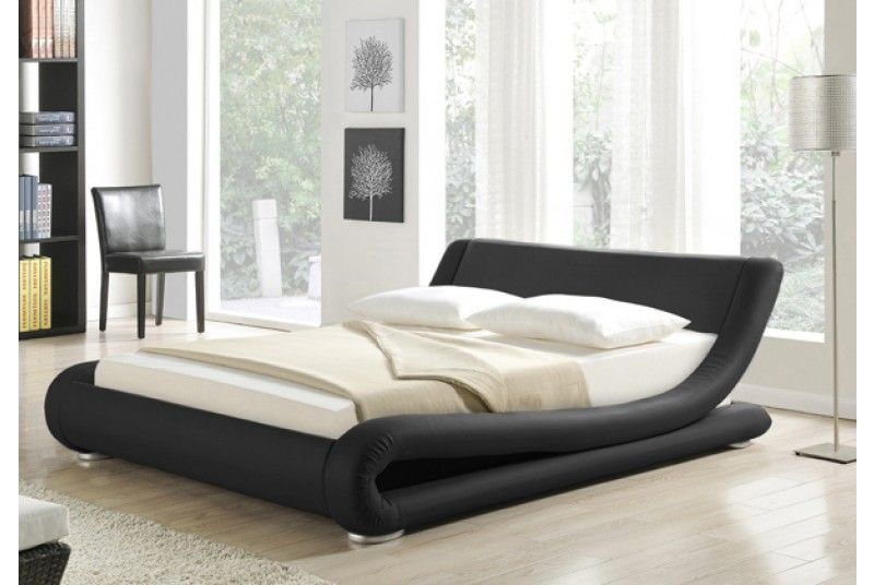 New Madrid curved low designer faux leather double king size Italian ...