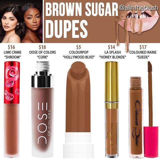 Kylie Jenner Lip Kit Dupe Brown Sugar Makeup Dupes Kylie Lip