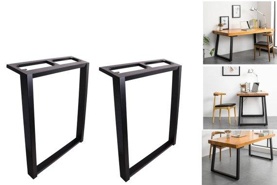 2 X 28 Dining Table Legs Black Steel Table Legs Office Table Legs