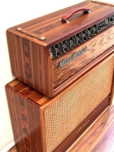 Customized Mesa Boogie Dc 10 With Matching Ashen 212 Cabinet Diy Guitar Amp Electric Guitar And Amp Guitar Storage