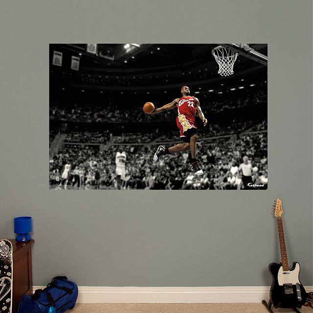 ded8b94ab9a LeBron James Throwback - Slam Dunk Mural Fathead Wall Graphic ...