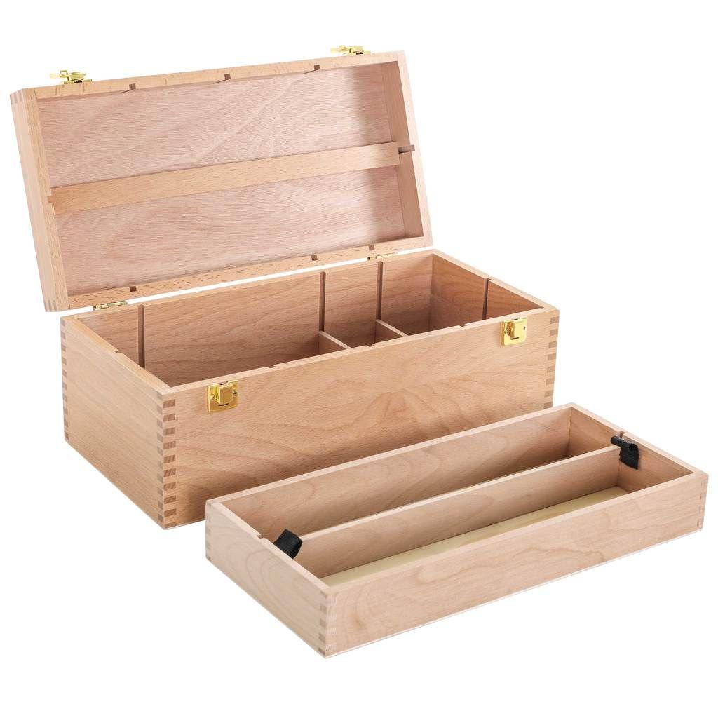 Artist Wood Pastel Pen Marker Storage Box With Drawer S