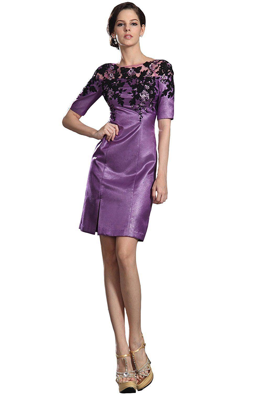 Angel formal dresses jewel knee length taffeta and lace mother