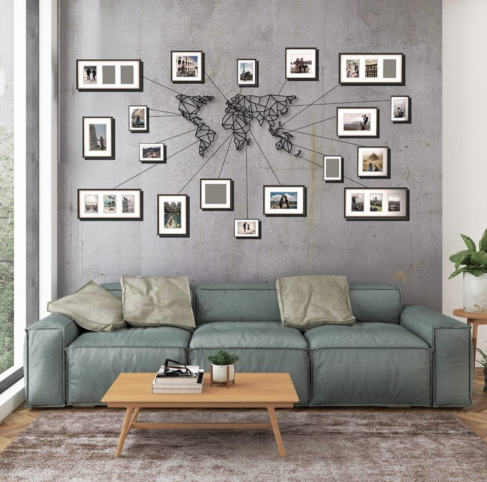 Metal World Map Geometric In 2021 Art Deco Living Room Living Room Wall World Map Wall Decor Living room pictures for the walls