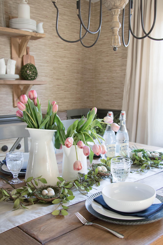 Modern Farmhouse Easter Table Dining room table