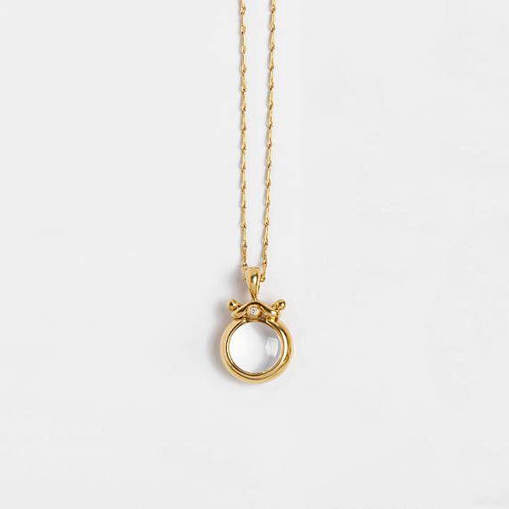 Clear stone pendant small bubble pendant necklace transparent clear stone pendant small bubble pendant necklace transparent gemstone rock crystal pendant small aloadofball Images