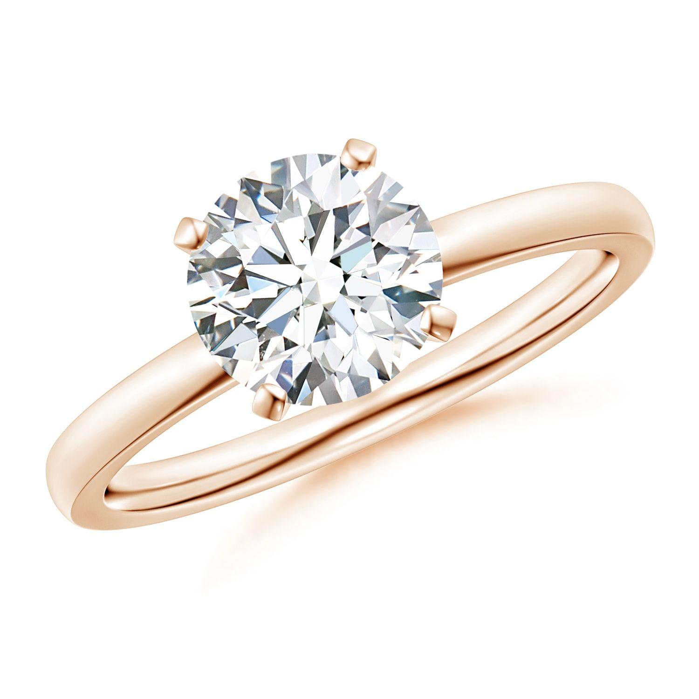 Classic round diamond solitaire ring angara round