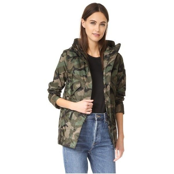 e56952edf7323 Camo Drifter Windbreaker ($500) ❤ liked on Polyvore featuring activewear,  activewear jackets and olive camo